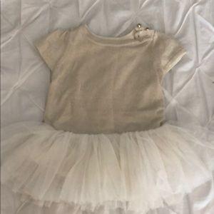 Baby GAP gold tutu dress